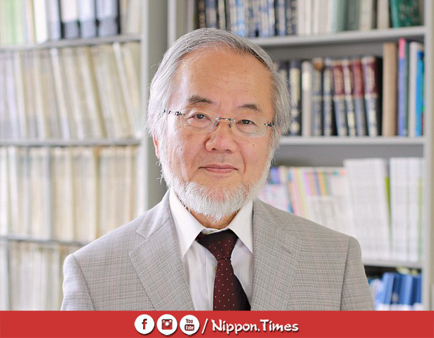 """آخر من فاز بجائزة نوبل في الطب عام 2016 من الذين درسوا في جامعة طوكيو (حيث فاز الدكتور """"يوشينوري أوسومي"""" بالجائزة لأبحاثه عن الالتهام الذاتي للخلايا Apoptosis)"""
