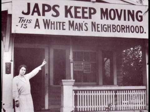 من العبارات العنصرية التي نادت بطرد اليابانيين في أميركا