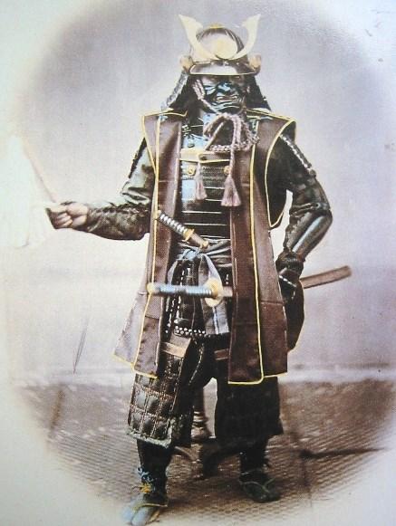 صوره نادرة لأحد محاربي الساموراي