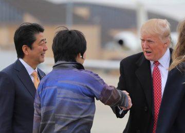 سيدة اليابان الأولى تحرج الرئيس الأمريكي ترامب