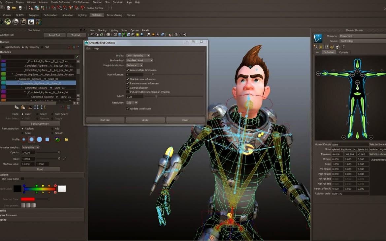 نموذج من التقنيات المستخدمة في تصميم الشخصيات عبر الحواسيب