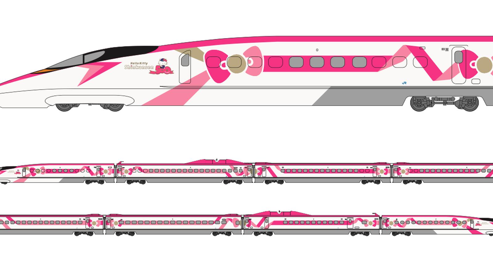 التصميم الخارجي المقترح لقطار الطلقة هيلو كيتي