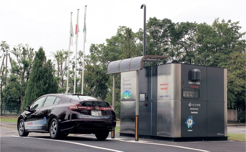 إحدى السيارات العاملة بالهيدروجين من هوندا