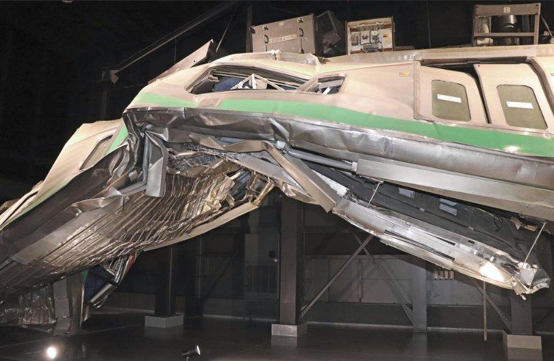 نموذج لقطار في متحف الحوادث
