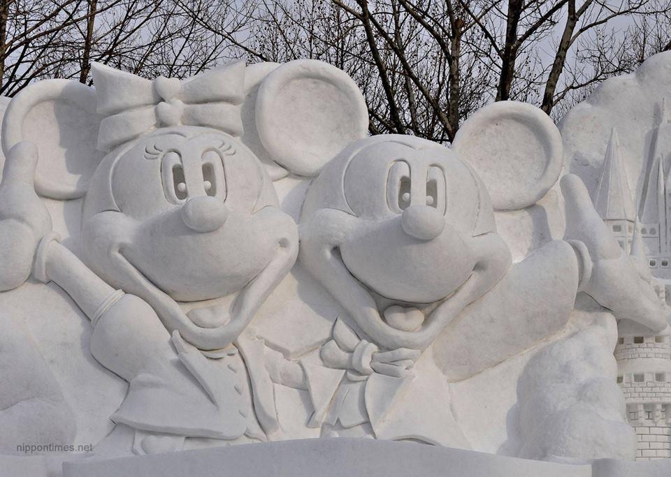 من مهرجان سابورو للثلج في الشتاء