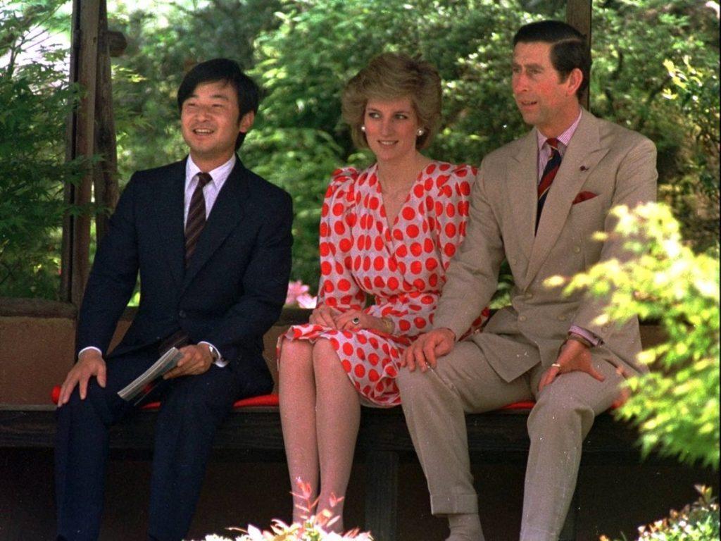 الأمير ناروهيتو مع الأمير تشارلز وزوجته الأميرة ديانا في كيوتو عام 1997 – المصدر Sadayuki mikami