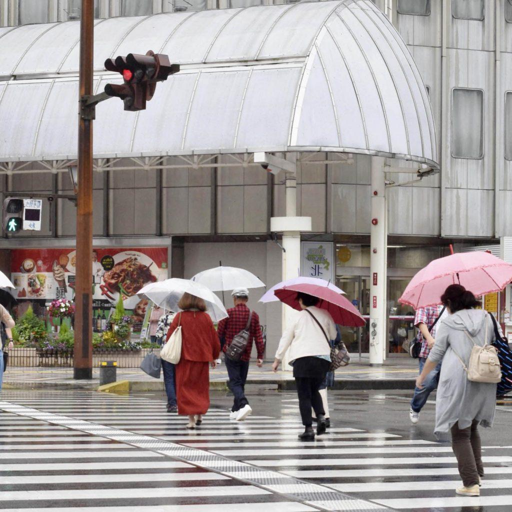 أمطار غزيرة تضرب محافظة ميازاكي جنبو اليابان - عبر وكالة كيودو اليابانية للأنباء