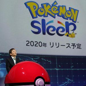 رئيس شركة بوكيمون تسونيكازو إيشيهارا يعلن عن لعبة Pokemon Sleep في مؤتمر صحفي في طوكيو | وكالة رويترز