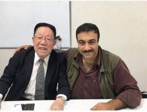 مع السيد ماتسوهيكو سيغوشي، أحد الناجين من قنبلة هيروشيما الذرية وأستاذ في معهد السلام التذكاري في هيروشيما