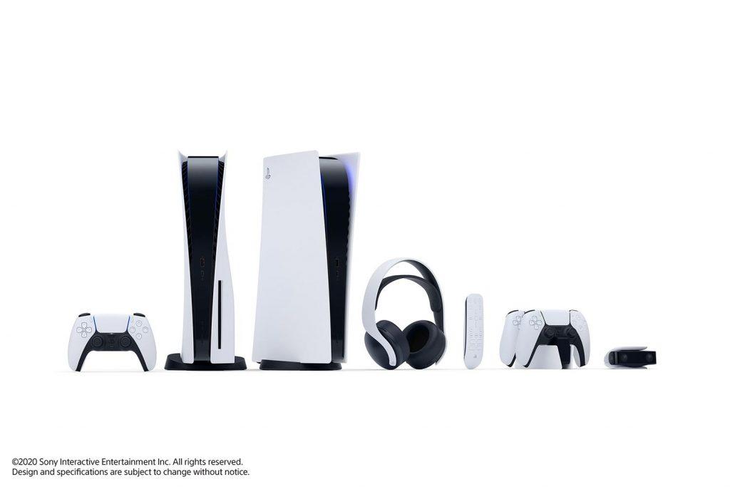 جهاز بلايستيشن 5 بنسخته العادية والرقمية مع جهاز التحكم وجميع الإكسسوارات الإضافية   عبر سوني
