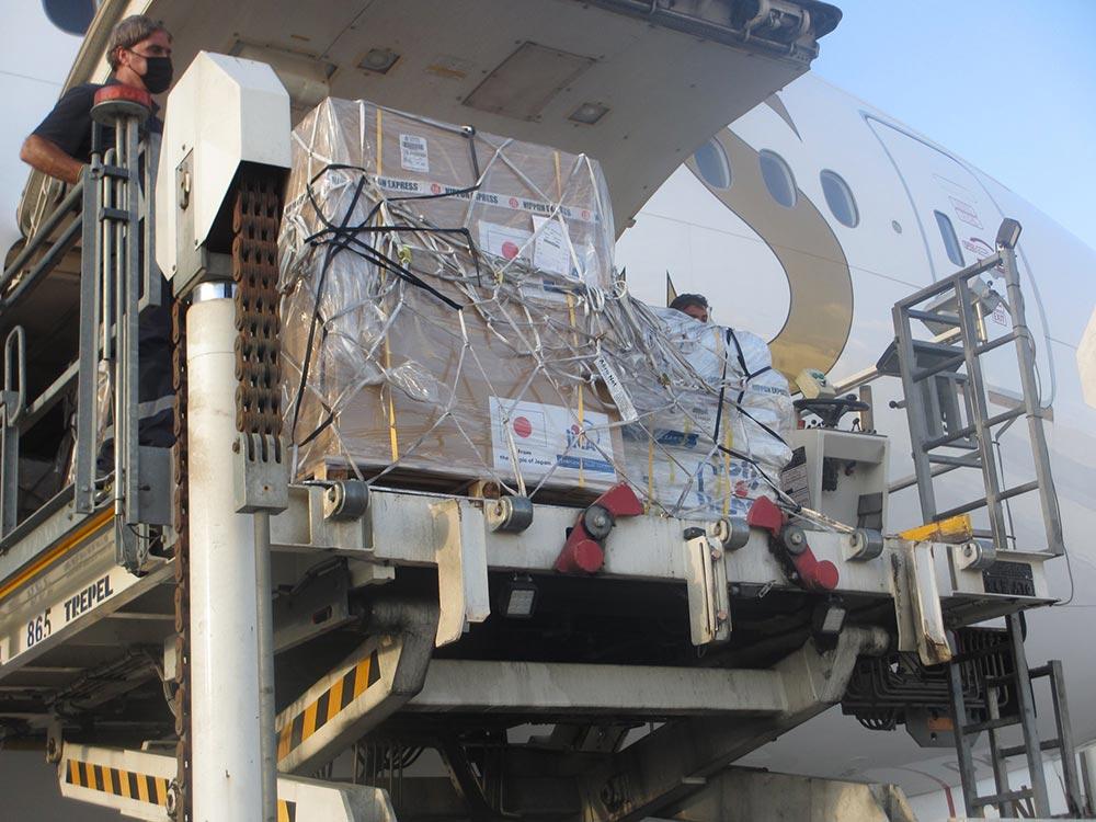 مواد الإغاثة اليابانية تصل إلى لبنان | عبر سفارة اليابان في لبنان